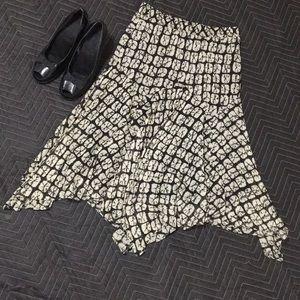 Michael Kors asymmetrical silk skirt